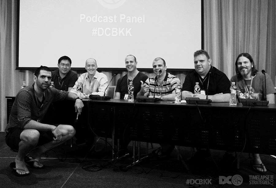 Panel with Dan Andrews, Chris Ducker, James Schramko, Joe Magnotti, Justin Cooke, and Tim Conley
