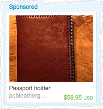 How To Get Into Manufacturing - Passport Holder from Etsy