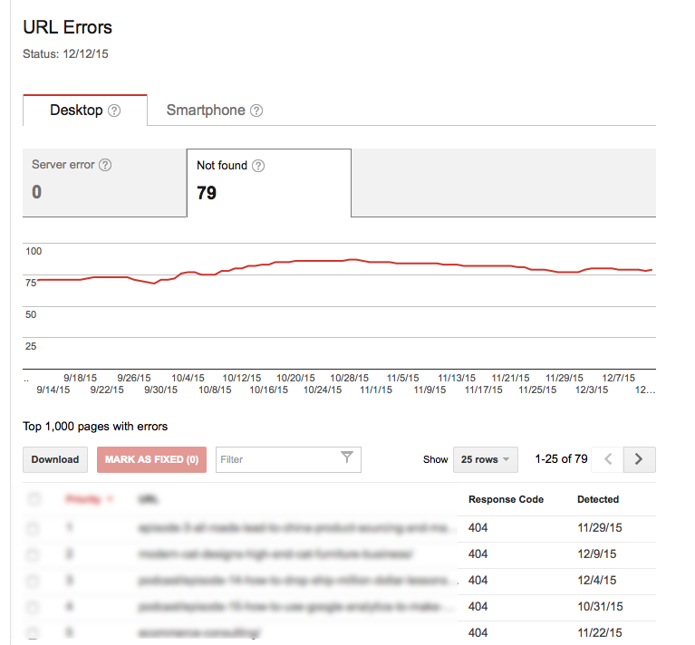 404 Errors For Build My Online Store...lot of fixing to do over the holidays!